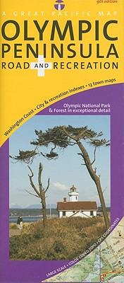 Great Pacific Olympic Peninsula, Washington Road and Recreation Map By Great Pacific (COR)